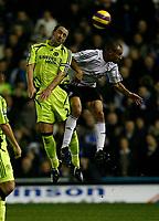 Photo: Steve Bond/Sportsbeat Images.<br />Derby County v Chelsea. The FA Barclays Premiership. 24/11/2007. Craig Fagan (R) and John Terry (L) in an aeriel challange