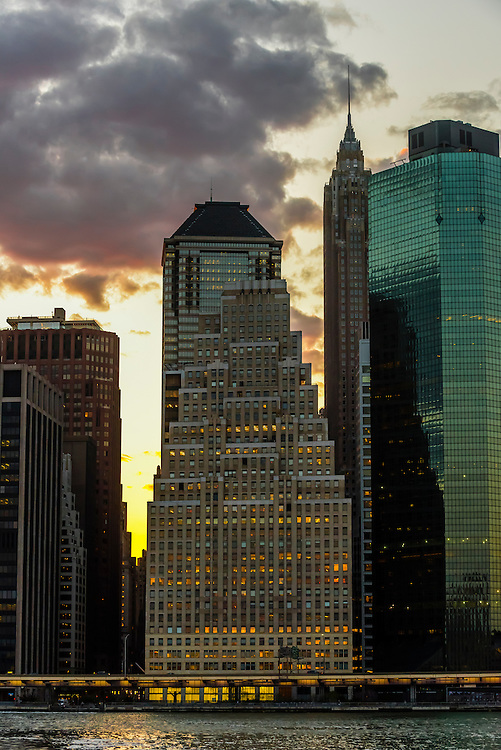 Skyscrapers, Lower Manhattan, New York, New York USA.