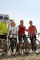 Two Couples Out for a Bicycle Ride