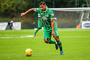 Celtic FC Defender Emilio Izaguirre playing the pall during the Ladbrokes Scottish Premiership match between Hamilton Academical FC and Celtic at New Douglas Park, Hamilton, Scotland on 4 October 2015. Photo by Craig McAllister.