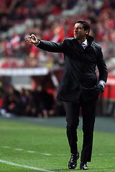 February 17, 2018 - Lisbon, Portugal - Boavista's head coach Jorge Simao gestures during the Portuguese League football match SL Benfica vs Boavista FC at the Luz stadium in Lisbon on February 17, 2018. (Credit Image: © Pedro Fiuza/NurPhoto via ZUMA Press)