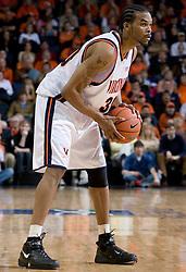 Virginia Cavaliers forward Adrian Joseph (30)in action against the Miami Hurricanes Men's Basketball Team.  The University of Virginia Cavaliers defeated the Miami Hurricanes Men's Basketball Team 81-70 at the John Paul Jones Arena in Charlottesville, VA on February 3, 2007.