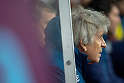 West Ham United Manager Manuel Pellegrini during the Premier League match between Burnley and West Ham United at Turf Moor, Burnley, England on 30 December 2018.