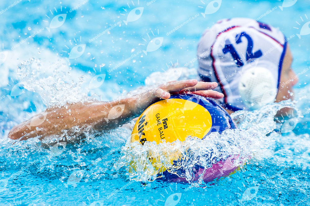 12 SHEPELEV Roman RUS<br /> RUS(white) vs MNO(blue)<br /> LEN European Water Polo Championships 2014<br /> Alfred Hajos -Tamas Szechy Swimming Complex<br /> Margitsziget - Margaret Island<br /> Day02 - July 15 <br /> Photo G. Scala/Inside/Deepbluemedia
