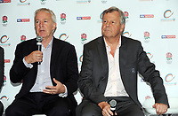 Rugby Union - 2017 / 2018 (RFU) Greene King IPA Championship - New Season Launch Photocall<br /> <br /> Nigel Melville - RFU's Director of Professional Rugby and Rugby Football Union boss Ian Ritchie talk at the launch at Twickenham.<br /> <br /> COLORSPORT/ANDREW COWIE