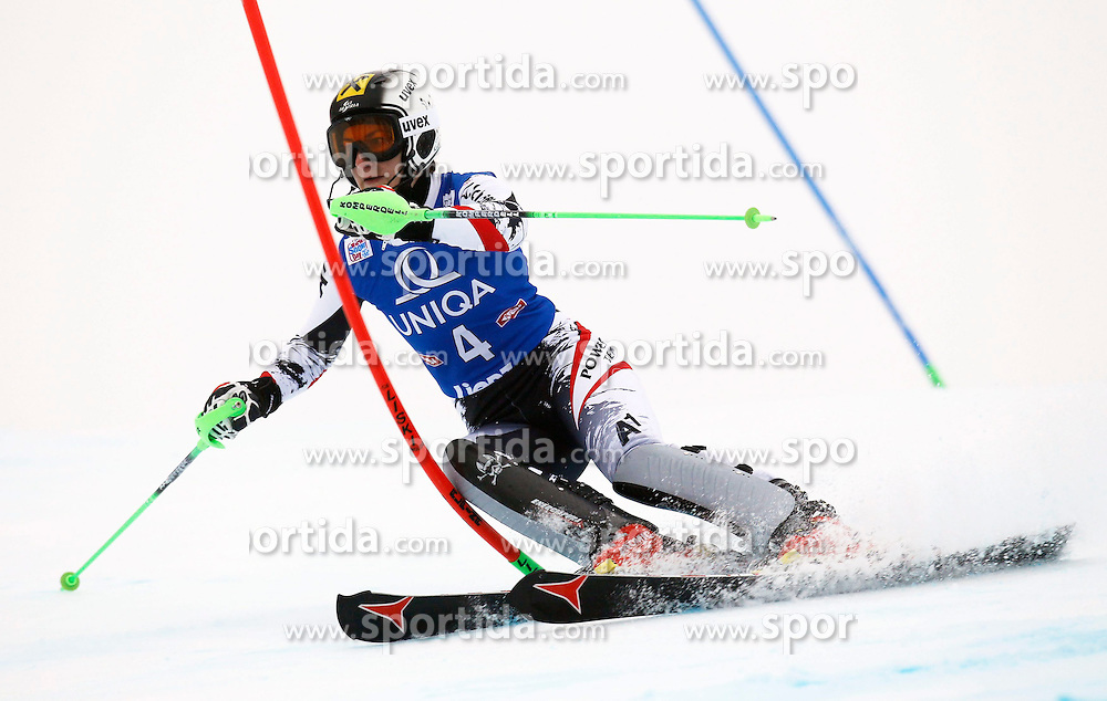 29.12.2013, Hochstein, Lienz, AUT, FIS Weltcup Ski Alpin, Damen, Slalom 1. Durchgang, im Bild Kathrin Zettel (AUT) // Kathrin Zettel of (AUT) during ladies Slalom 1st run of FIS Ski Alpine Worldcup at Hochstein in Lienz, Austria on 2013/12/29. EXPA Pictures © 2013, PhotoCredit: EXPA/ Oskar Höher