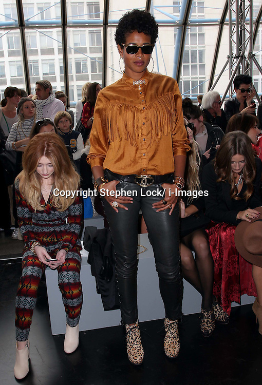 Kelis at the Topshop  Unique show at London Fashion Week, Sunday 18th September 2011 Photo by: Stephen Lock/i-Images