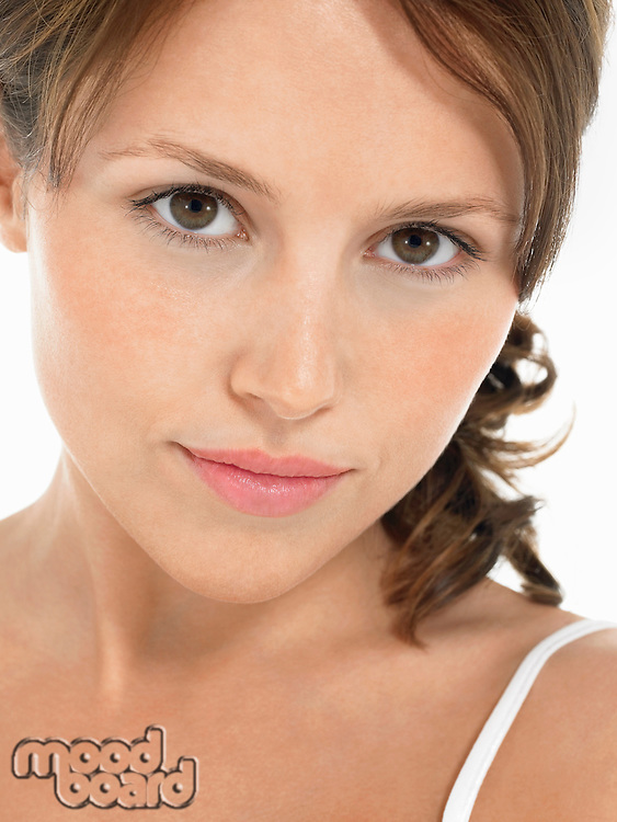 Young Brunette Woman portrait close up