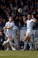 Brice Dulin / Jamie Roberts   - 05.04.2015 - Racing Metro 92 / Sarances - 1/4Finale European Champions Cup<br />