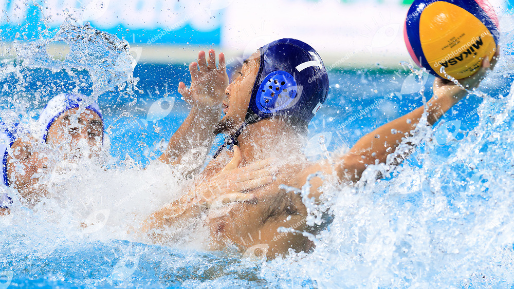 Yusuke Shimizu of Japan<br /> Greece  (white cap) -  Japan (blue cap)<br /> Preliminary Round Water Polo Women<br /> Day10  23/07/2017 <br /> XVII FINA World Championships Aquatics<br /> Alfred Hajos Complex Margaret Island  <br /> Budapest Hungary <br /> Photo @Deepbluemedia/Insidefoto Photo @Marcelterbals/Deepbluemedia/Insidefoto