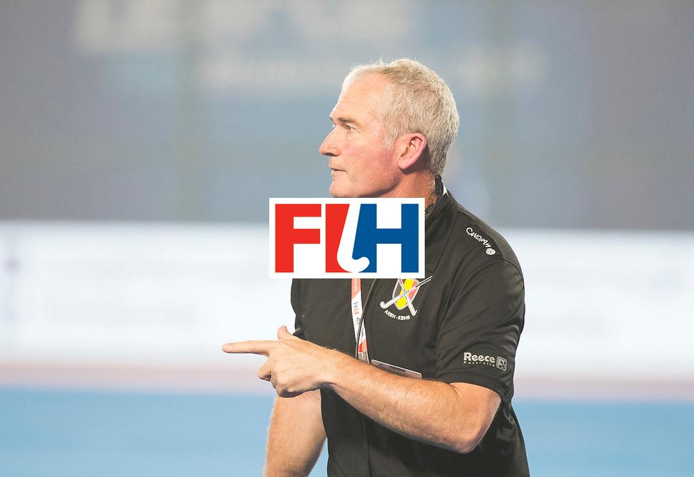 BHUBANESWAR - The Odisha Men's Hockey World League Final . Match ID 07,   Belgium v Spain. coach Shane McLeod (Bel)  WORLDSPORTPICS COPYRIGHT  KOEN SUYK