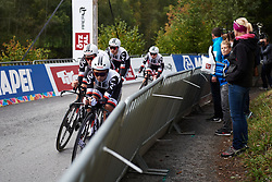 Coryn Rivera (USA) in the Team Sunweb train at UCI Road World Championships 2018 - Women's Team Time Trial, a 54 km team time trial in Innsbruck, Austria on September 23, 2018. Photo by Sean Robinson/velofocus.com