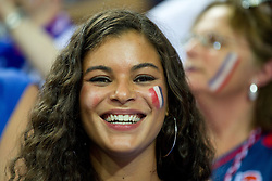 Fans of France during final basketball game between National basketball teams of Spain and France at FIBA Europe Eurobasket Lithuania 2011, on September 18, 2011, in Arena Zalgirio, Kaunas, Lithuania. (Photo by Vid Ponikvar / Sportida)