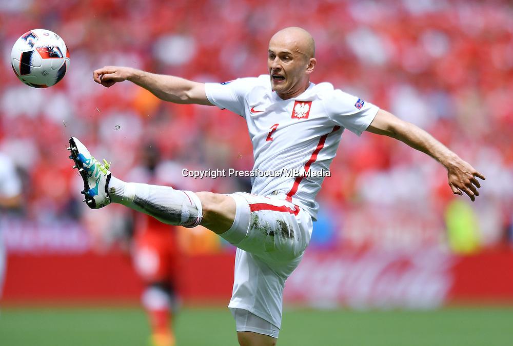 2016.06.25<br /> Football UEFA Euro 2016 <br /> Round of 16 game between Switzerland and Poland<br /> Michal Pazdan<br /> Credit: Lukasz Laskowski / PressFocus