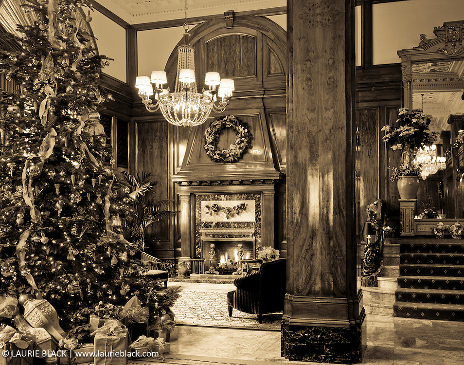Hotel holiday lobby