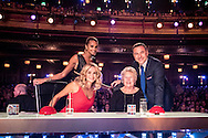 *** MANDATORY BYLINE TO READ: Syco / Thames / Dymond ***<br />Contestants and judges are seen on the fourth show of the 2016 series of Britain's Got Talent. The show airs Saturday April 30th on ITV.<br /><br />Pictured: Pictured is David Walliams' mum Kathleen replacing Simon Cowell on the BGT judging panel.<br />Ref: SPL1272916  290416  <br />Picture by: Syco / Thames / Dymond