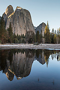 Cathedral Rocks in Yosemite National Park, California.