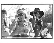 Mrs. Philip Fanning and Nancy Miller.. Point to Point. New Jersey. 1990. © Copyright Photograph by Dafydd Jones 66 Stockwell Park Rd. London SW9 0DA Tel 020 7733 0108 www.dafjones.com
