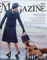 Anwar Hussein photo of Queen Elizabeth ll on cover of The Times Magazine