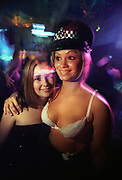 Girl standing with a model, Garage Nation, Ministry of Sound, London 1997