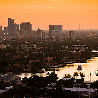 Downtown Fort Lauderdale at sunset.