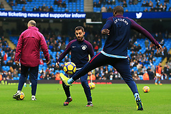 Bernardo Silva of Manchester City warms up with Yaya Toure - Mandatory by-line: Matt McNulty/JMP - 23/12/2017 - FOOTBALL - Etihad Stadium - Manchester, England - Manchester City v Bournemouth - Premier League