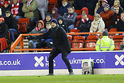An animated Nottingham Forest Head Coach Sabri Lamouchi during the EFL Sky Bet Championship match between Nottingham Forest and Charlton Athletic at the City Ground, Nottingham, England on 11 February 2020.