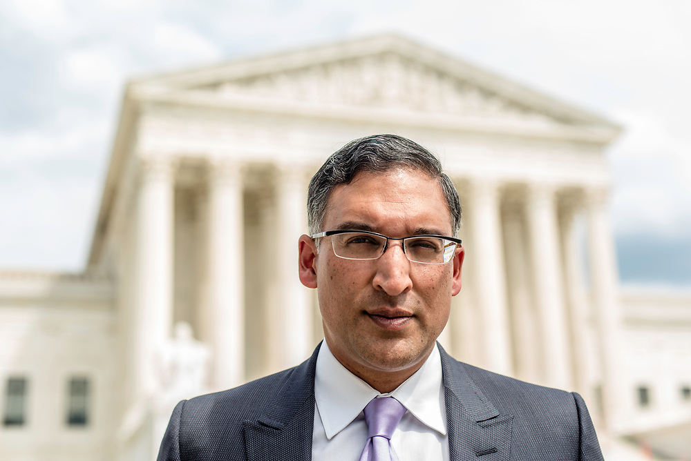 WASHINGTON, DC -- 8/10/17 -- Supreme Court lawyer Neal Katyal is one of the leading attorneys for the state of Hawaii as they fight President Trump's travel ban. Katyal, now an attorney with Hogan Lovells, and former Acting Solicitor General, has argued more cases before the Supreme Court, 34, than any other minority attorney except Thurgood Marshall, with whom he's currently tied..…by André Chung #_AC14010