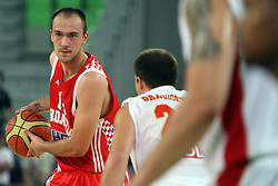 Damir Markota of Croatia at friendly match between Croatia and Montenegro for Adecco Cup 2011 as part of exhibition games before European Championship Lithuania on August 6, 2011, in SRC Stozice, Ljubljana, Slovenia. (Photo by Urban Urbanc / Sportida)