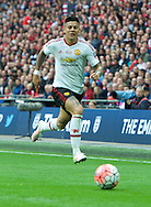 Marcos Rojo of Manchester United during the FA Cup Final at Wembley Stadium, London<br /> Picture by Alan Stanford/Focus Images Ltd +44 7915 056117<br /> 21/05/2016