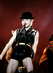 Madonna performs on stage