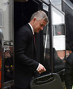 Manchester United manager Ole Gunnar Solskjaer arrives ahead of the Premier League match between Bournemouth and Manchester United at the Vitality Stadium, Bournemouth, England on 2 November 2019.