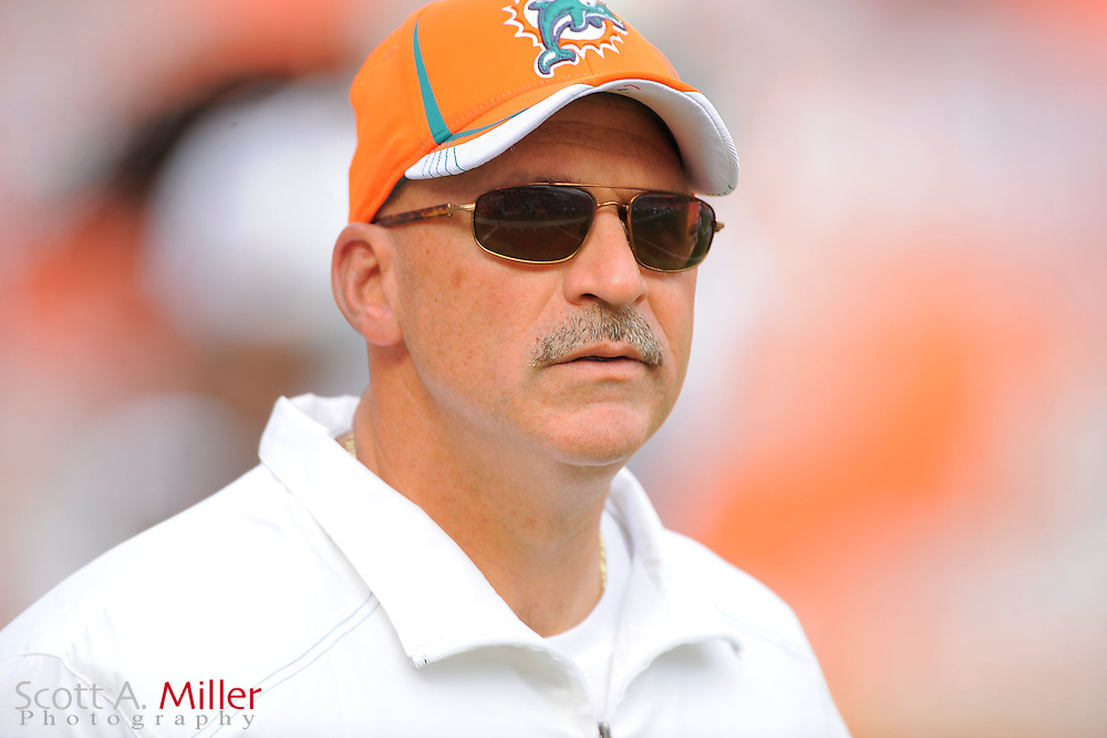 Miami Dolphins head coach Tony Sparano during the Dolphins 18-15 overtime loss to the Denver Broncos at Sunlife Stadium on Oct. 22, 2011 in Miami Gardens, Fla.  ...(SPECIAL TO FOXSPORTS.COM/Scott A. Miller)