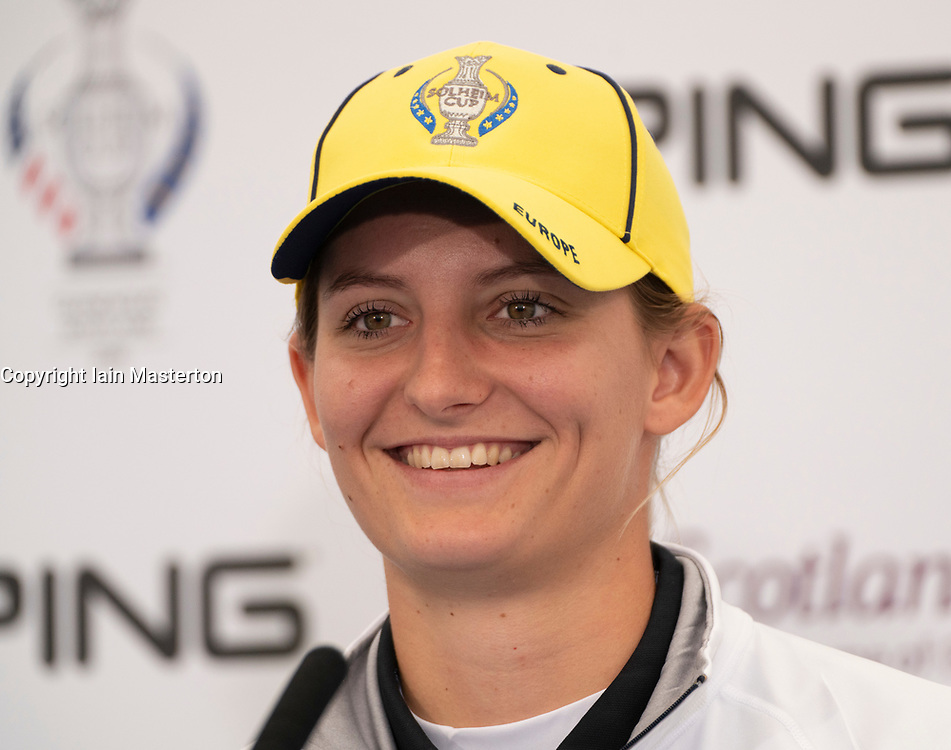 Auchterarder, Scotland, UK. 10 September 2019. Press conference by team at Gleneagles. Pictured Anne Van Dam of Europe. Iain Masterton/Alamy Live News