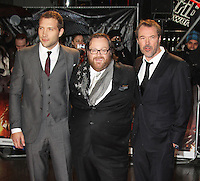 Jai Courtney; John Moore; Sebastian Koch, A Good Day To Die Hard - UK Film Premiere, Empire Cinema Leicester Square, London UK, 07 February 2013, (Photo by Richard Goldschmidt)