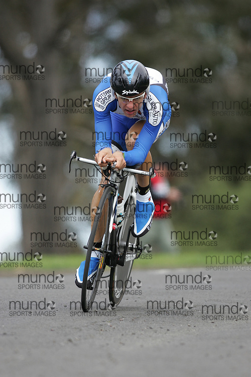 (Geelong, Australia---30 September 2010) Tanel KANGERT of Estonia (EST) racing to 33rd place in the Elite Men's Time Trial race at the 2010 UCI Road World Championships [2010 Copyright Sean Burges / Mundo Sport Images -- www.mundosportimages.com]