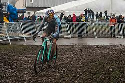 VAN AERT Wout (BEL) with Bianchi during Men Elite race, 2020 UCI Cyclo-cross Worlds Dübendorf, Switzerland, 2 February 2020. Photo by Pim Nijland / Peloton Photos | All photos usage must carry mandatory copyright credit (Peloton Photos | Pim Nijland)
