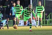 Forest Green Rovers Dan Wishart(17) runs forward during the EFL Sky Bet League 2 match between Forest Green Rovers and Crawley Town at the New Lawn, Forest Green, United Kingdom on 24 February 2018. Picture by Shane Healey.