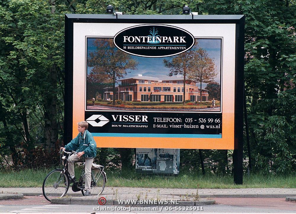 Bord aanvang werkzaamheden Fonteinpark Nieuw Bussummerweg