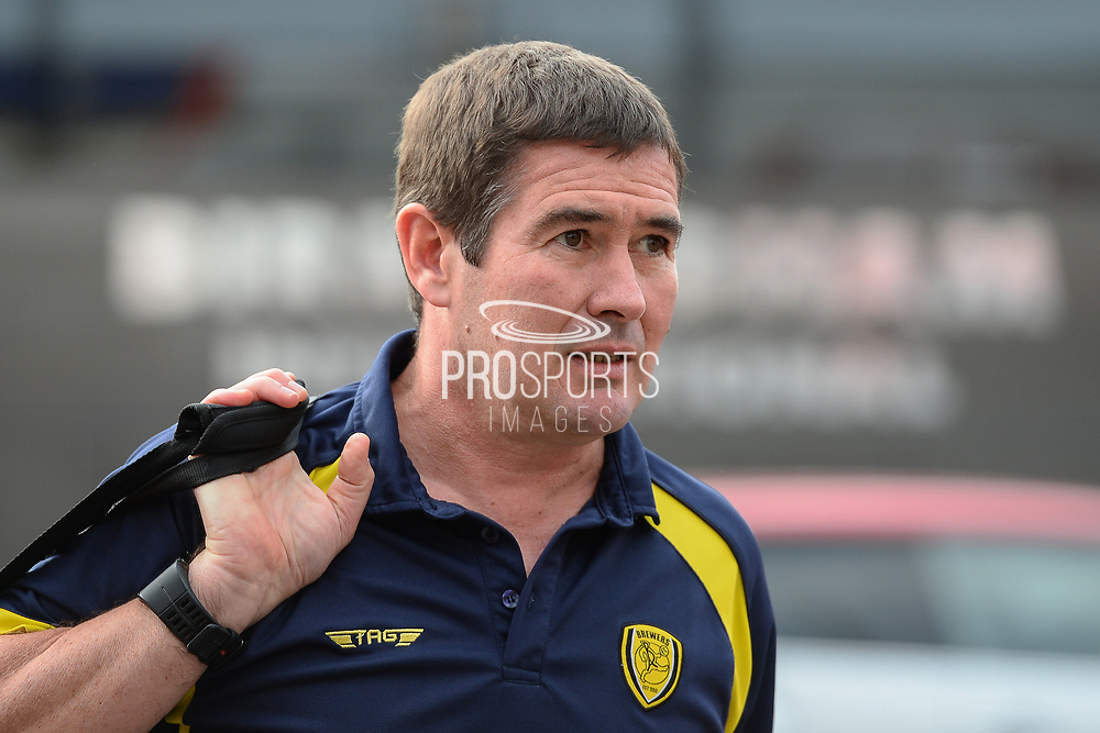 Burton Albion manager Nigel Clough arrives a the City Ground during the EFL Sky Bet Championship match between Nottingham Forest and Burton Albion at the City Ground, Nottingham, England on 21 October 2017. Photo by Jon Hobley.