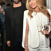 Christian Vit and Coralie Jo attend Nina Naustdal catwalk show SS19/20 collection by The London School of Beauty & Make-up at Bagatelle on 26 Feb 2019, London, UK.