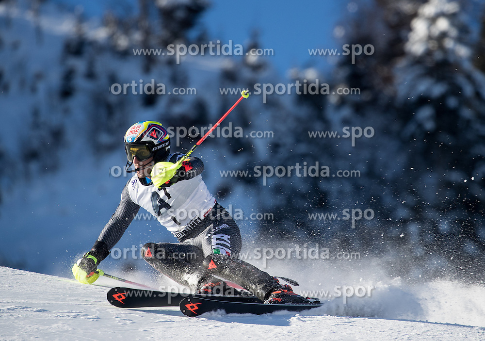 22.01.2017, Hahnenkamm, Kitzbühel, AUT, FIS Weltcup Ski Alpin, Kitzbuehel, Slalom, Herren, 1. Lauf, im Bild Stefano Gross (ITA) // Stefano Gross of Italy in action during his 1st run of men's Slalom of FIS ski alpine world cup at the Hahnenkamm in Kitzbühel, Austria on 2017/01/22. EXPA Pictures © 2017, PhotoCredit: EXPA/ Johann Groder