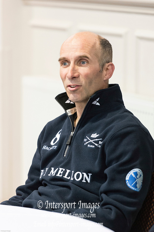 London. UNITED KINGDOM.  160th BNY Mellon Boat Race on the Championship Course, River Thames, Putney/Mortlake.  Friday  04/04/2014    [Mandatory Credit. Intersport Images]<br /> <br /> Oxford University - Press Conference<br /> <br /> Oxford Chief Coach Sean Bowden