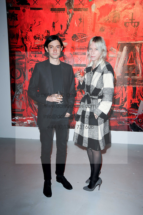 ? at a private view of Nicolas Pol's paintings entitled 'Mother of Pouacrus' held at The Dairy, Wakefield Street, London WC1 on 14th October 2010.