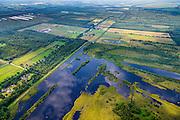 Nederland, Limburg, Gemeente Horst aan de Maas, 26-06-2014; Griendtsveen ten noorden van Helenveen. Onderdeel van Deurnese Peel-Mariapeel. Ontstaan door het ontginnen van het oorspronkelijke hoogveengebied.<br /> Remainders of (reclaimed) peatland and bog, known as the Peel.<br /> luchtfoto (toeslag op standaard tarieven);<br /> aerial photo (additional fee required);<br /> copyright foto/photo Siebe Swart.