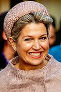 Koningin Maxima is vrijdagmiddag 29 november aanwezig bij het jubileumcongres van CNV Vakmensen in N
