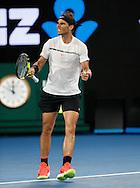 RAFAEL NADAL (ESP) macht die Faust und jubelt,Jubel,Emotion ,Herren Finale<br /> <br /> Australian Open 2017 -  Melbourne  Park - Melbourne - Victoria - Australia  - 29/01/2017.