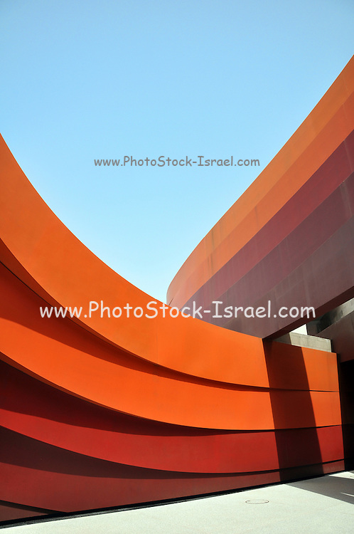 Israel, Holon exterior of the Design museum (Designed by Ron Arad Architects)