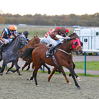 Prince Of Burma and David Probert winning the 1.25 race