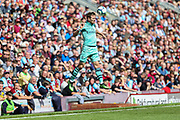 Arsenal defender Nacho Monreal (18) during the Premier League match between Burnley and Arsenal at Turf Moor, Burnley, England on 12 May 2019.